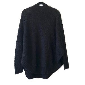 NWT ASOS black popcorn knit poncho style sweater